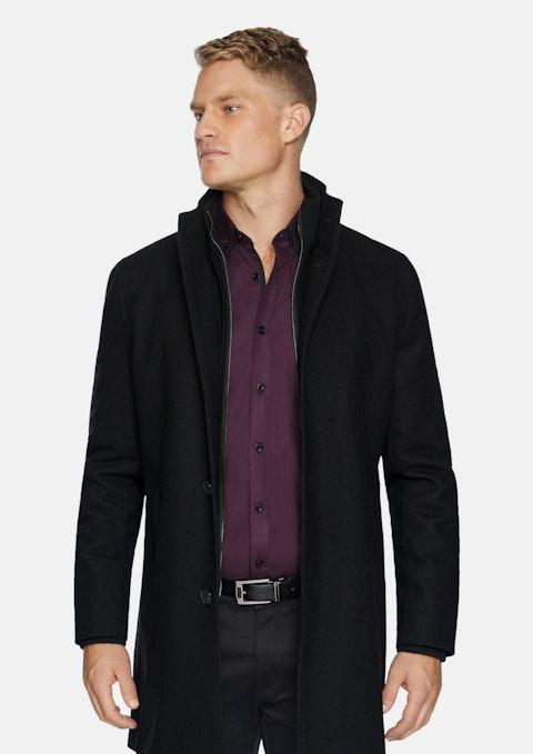 Black Northfield Wool Coat