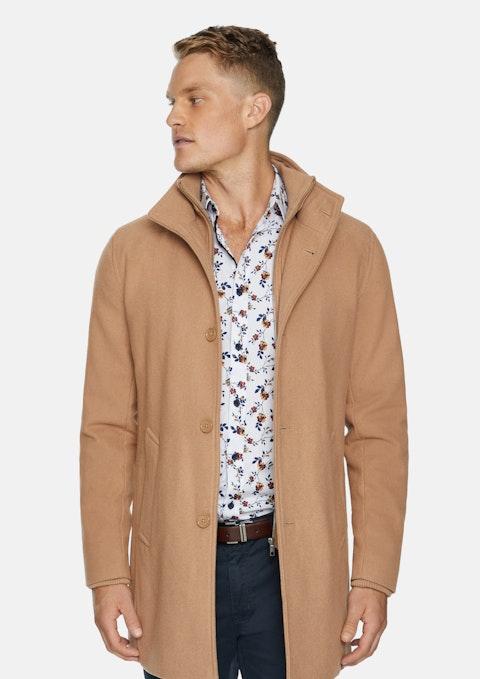 Camel Northfield Wool Coat
