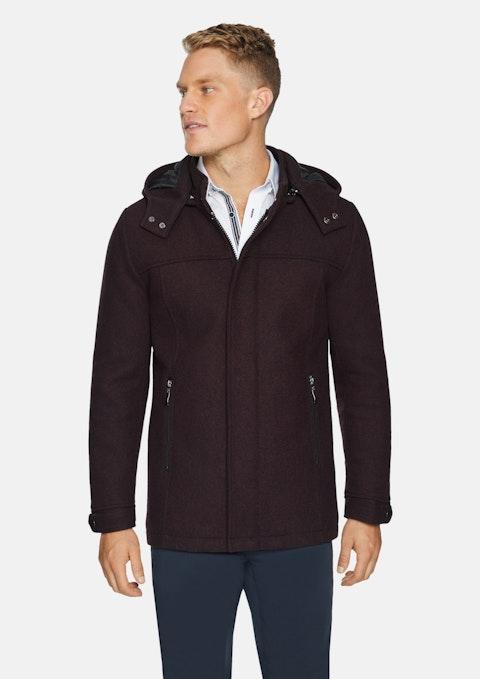 Burgundy Alberton Coat