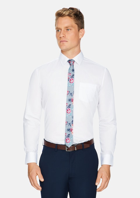 White Arthur Easy Iron Dress Shirt