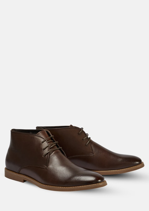 Chocolate Joesph Lace Up Boot