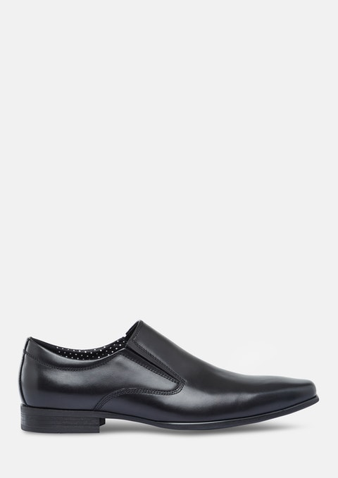 Black Jonah Slip On Dress Shoe