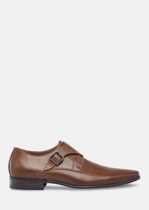Tan Adrian Textured Dress Shoe