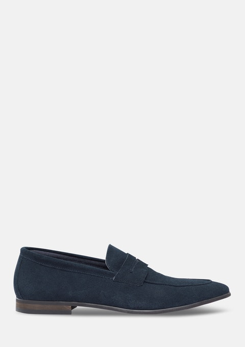 Navy Miguel Suede Loafer
