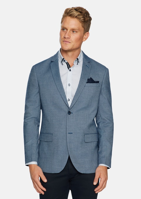 Blue Carter Textured Blazer