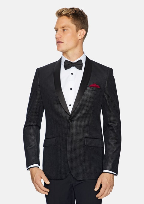 Black Diamond Tuxedo Jacket