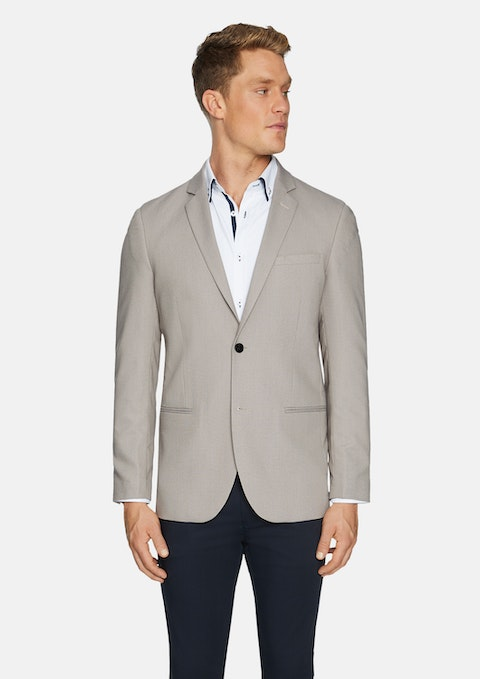 Natural Edwin Textured Blazer
