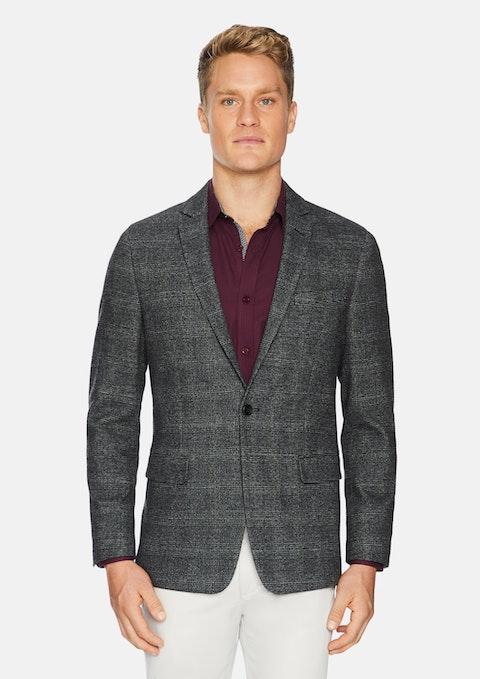 Charcoal Berkeley Check Stretch Blazer