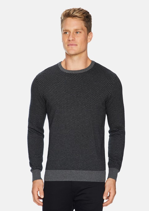 Charcoal Doncaster Textured Knit