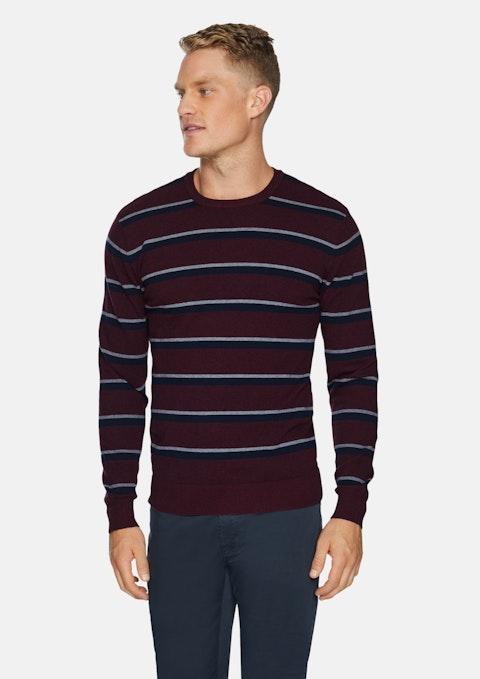 Burgundy Thornbury Stripe Knit