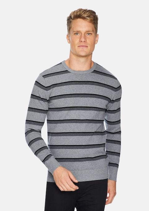 Silver Thornbury Stripe Knit