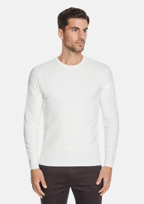 Winter White Gitano Textured Knit