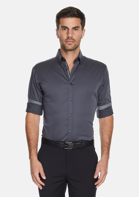 Charcoal Darley Slim Stretch Shirt