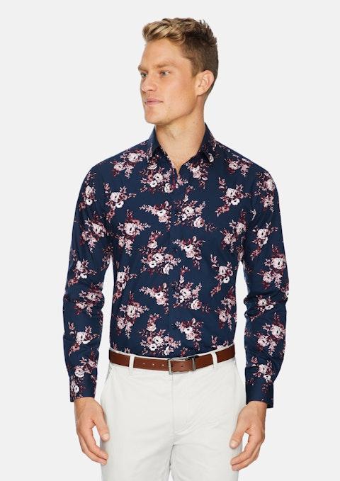 Navy Kipling Floral Shirt