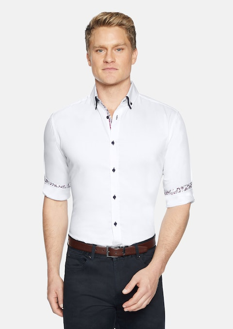 White Bradbury Slim Shirt
