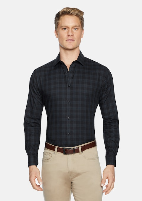 Black Meymott Check Shirt