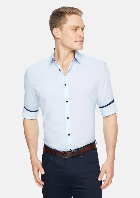 Blue Percival Geo Shirt
