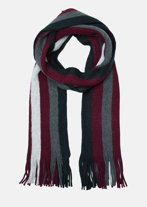 Burgundy Brussels Stripe Scarf
