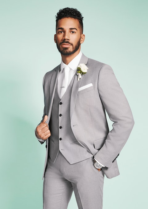 Silver Reggie Stretch Suit Jacket