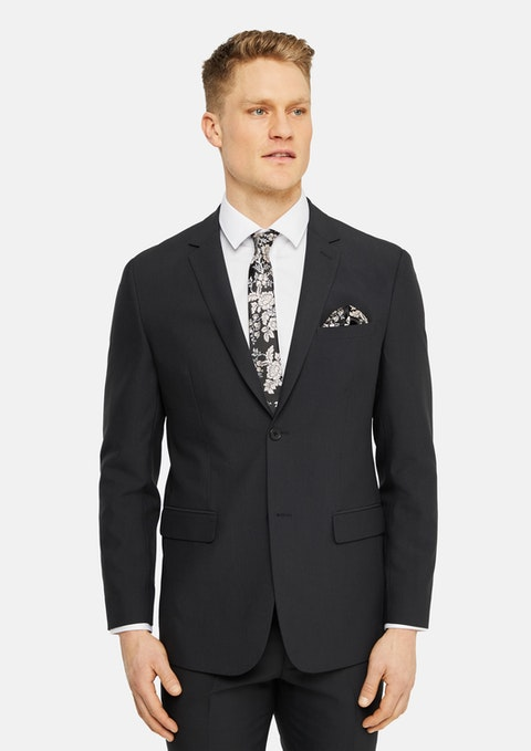 Charcoal Ronnie Stretch Suit Jacket