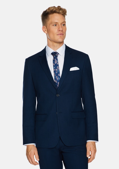 Navy Lachlan Stretch Suit Jacket
