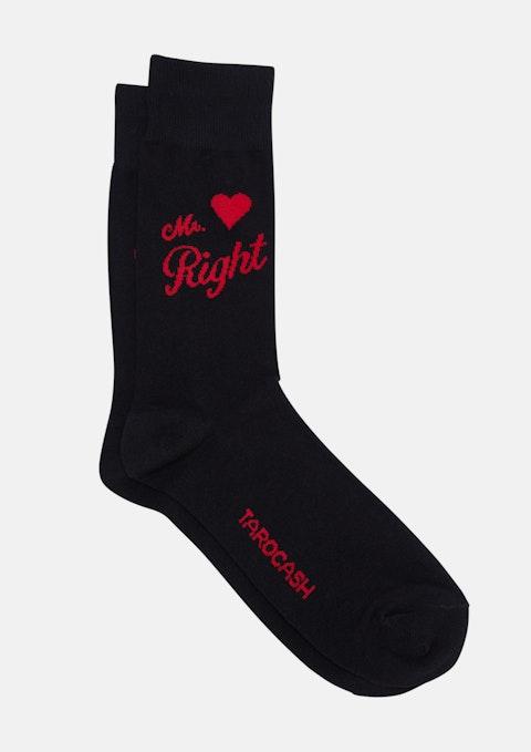 Black Mr Right Sock