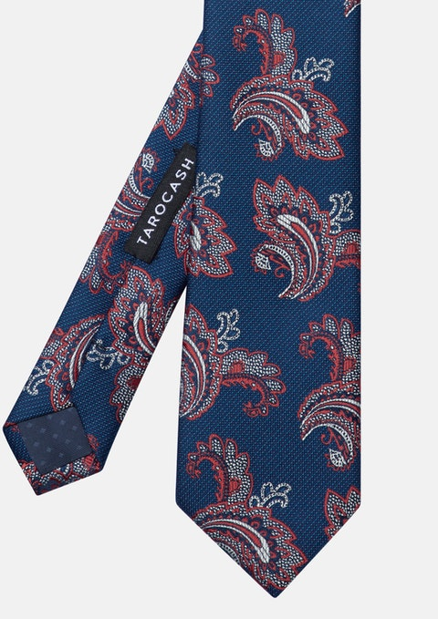 Navy Finlayson Paisley Tie