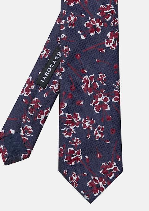 Navy Rosenthal Floral Tie