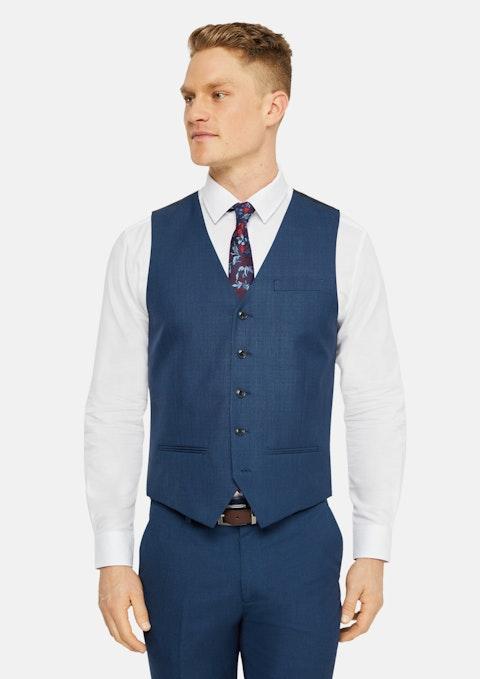 Blue Hilton Slim Waistcoat