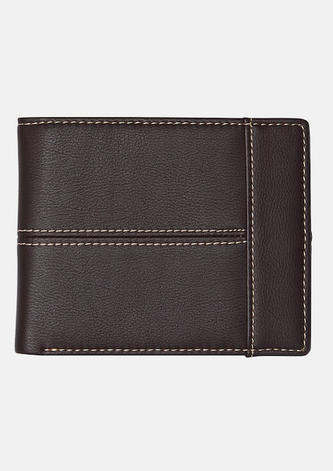 Chocolate Stitched Bi Fold Wallet