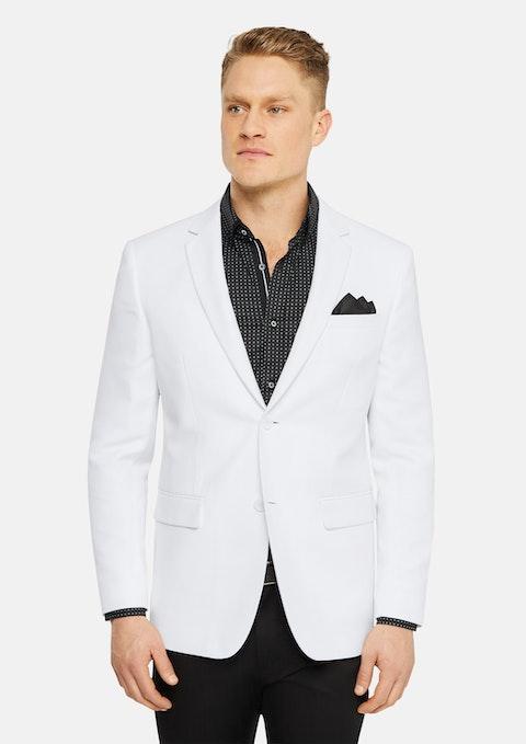 White Benton Textured Blazer