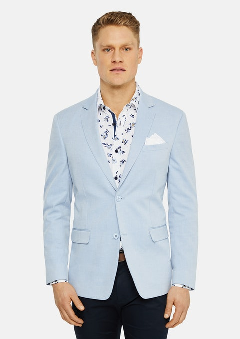 Sky Lagoon Cotton Stretch Blazer