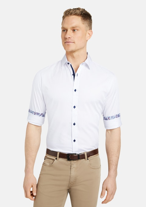 White Nova Slim Stretch Shirt