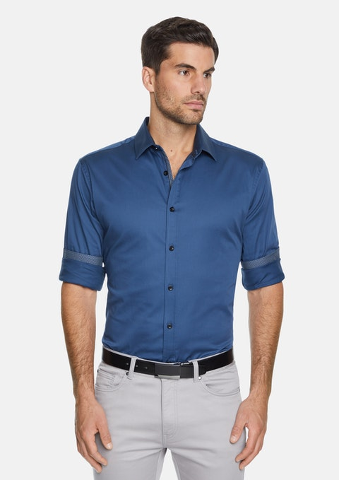 Petrol Gallagher Slim Stretch Shirt