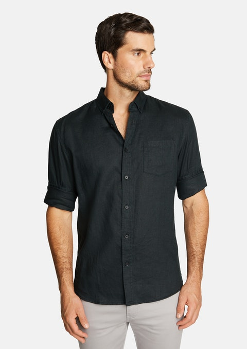 Black Billy Pure Linen Shirt
