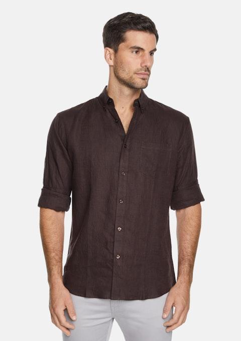 Chocolate Billy Pure Linen Shirt