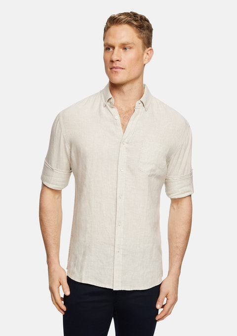 Natural Billy Pure Linen Shirt