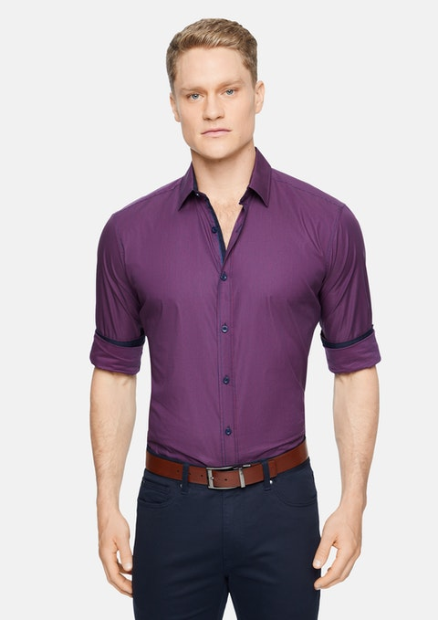 Berry Robinson Stretch Check Shirt