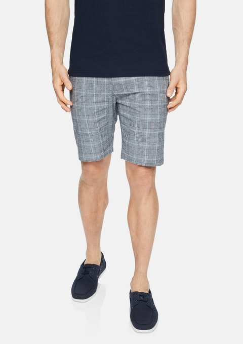 Charcoal Hallett Stretch Check Short