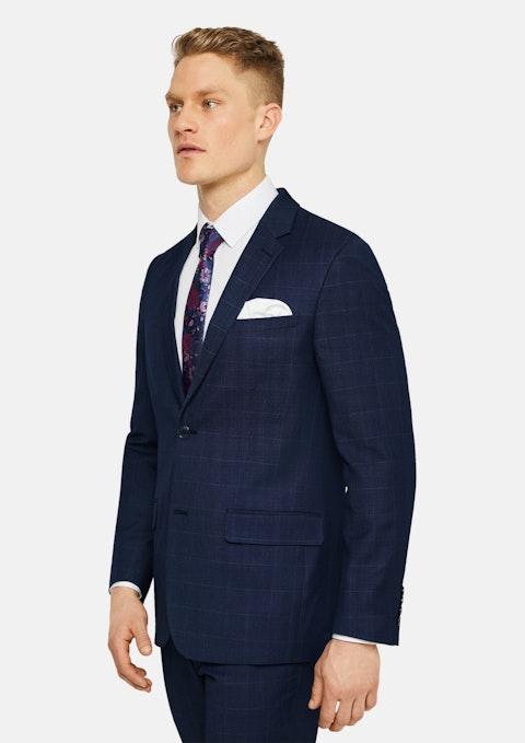 Blue Camden Stretch Check Suit Jacket