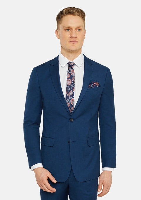 Blue Rayden Slim Suit Jacket