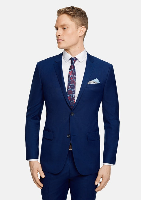 Blue Mac Slim Wool Suit Jacket
