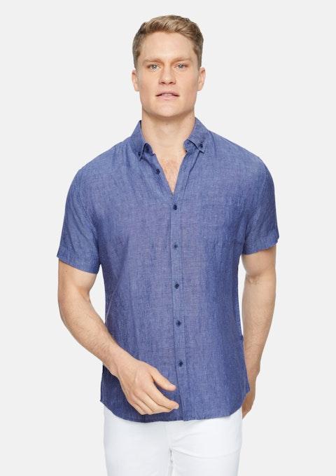 Blue Robbie Pure Linen Shirt