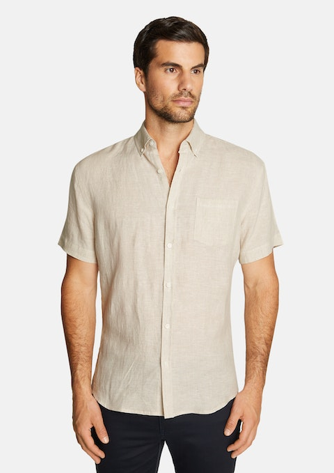 Natural Robbie Pure Linen Shirt