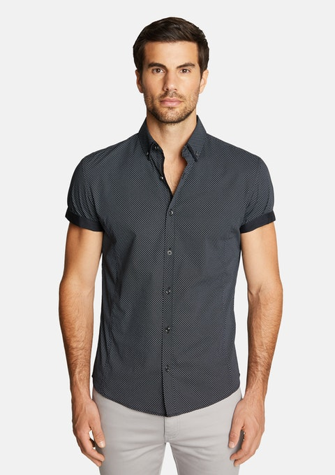 Black Speedster Muscle Stretch Geo Shirt