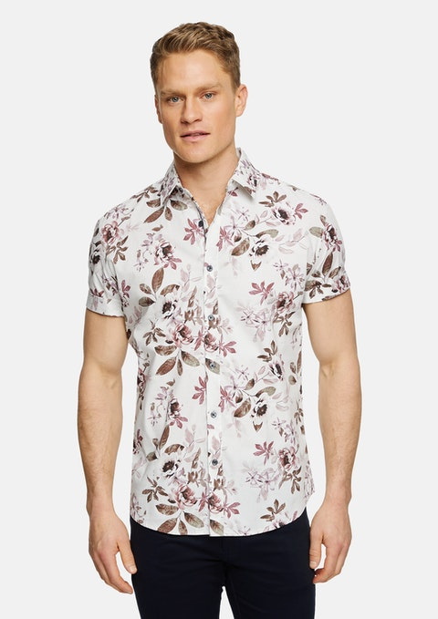 Ivory New Mexico Stretch Floral Shirt