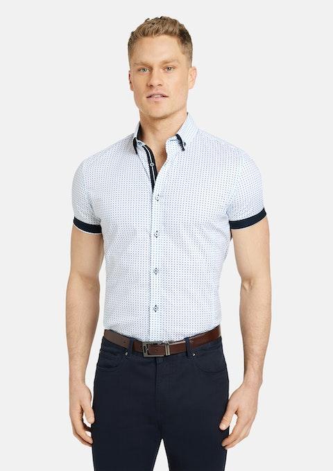 White Jac Muscle Stretch Geo Shirt