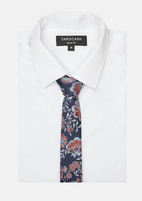 Navy Normandy Floral Tie