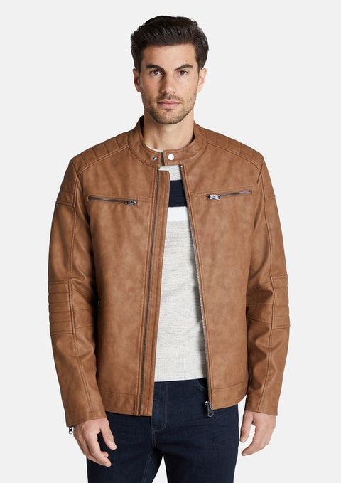 Tan Banco Biker Jacket