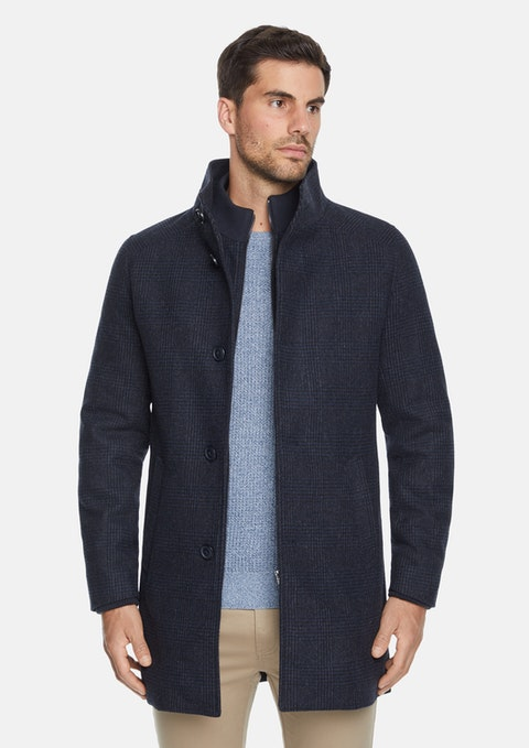 Ink Southfield Check Wool Coat